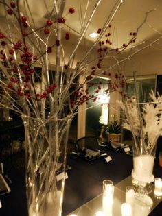 C B Engagement Party :: Winter decor for tables