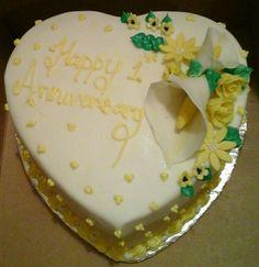 Heart shaped anniversary cake...