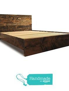 Wooden Platform Bed Frame and Headboard / Modern and Contemporary / Rustic and…
