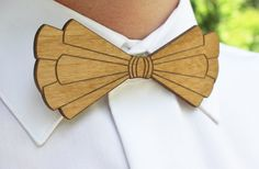 Wooden Intricate Laser Cut Bow Tie  Handsome Mens by LuccaWorkshop