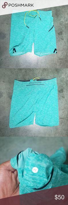 49938ff719 Lululemon Mens Heathered Aqua Blue El Current Swim Lululemon Mens Heathered  Aqua Blue El Current Swim