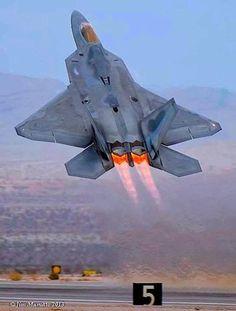 Wings in the skyF-22