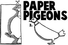 Gary / Book Week 2017 / Paper Folded Pigeons FREE