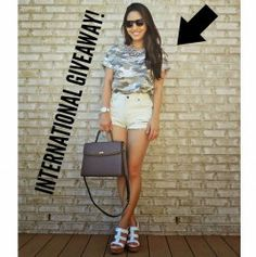 Win  A CAMO TEE ^_^ http://www.pintalabios.info/en/fashion_giveaways/view/en/2073 #International #Fashion #bbloggers #Giveaway