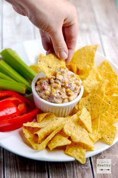 This corn queso dip is a deliciously addictive appetizer that is perfect to make for watching football.
