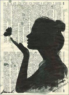 Book art from Emanuel Art on Etsy