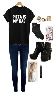 """""""Untitled #3466"""" by if-i-were-famous1 ❤ liked on Polyvore featuring River Island, WithChic, Calvin Klein and Marc Jacobs"""