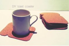 Coasters Toast Cork [Fonte]