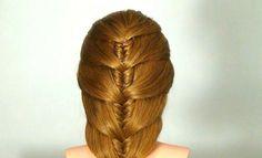 Легкая прическа на каждый день. Easy hairstyle for every day, via YouTube.