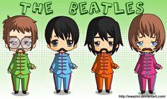 Chibi Sgt. Pepper Beatles by swazini.deviantart.com on @DeviantArt