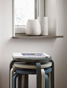 Easy Scandinavian IKEA Frosta Stool Makeover: Bring home a bit of Scandinavia into your home by making over your IKEA Frosta Stools with muted, pastel colors. Small Room Interior, Small Space Interior Design, Decorating Small Spaces, Decorating Ideas, Frosta Ikea, Stackable Stools, Stacking Chairs, Ikea Stool, Ikea Chairs
