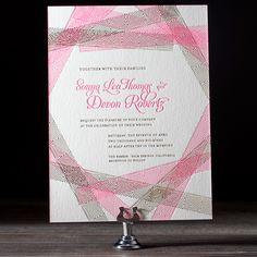 """Brides.com: 20 Geometric Invitations for Modern Couples """"New Washi"""" letterpress wedding invitation, price available upon request,  Bella Figura LetterpressPhoto: Courtesy of Bella Figura"""