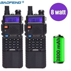 2Pcs Baofeng UV-5R 8W Walkie Talkie Professional CB Radio Station UV5R HF Transceiver VHF UHF Portable UV 5R Hunting Ham Radio Review Ham Radio, Walkie Talkie, Hunting, January, Fighter Jets