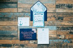 Nautical Wedding Invite   Photo: Blinkbox Photos