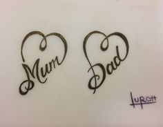 See more ideas about mom dad tattoo designs, mom dad tattoos and tattooed. Mum And Dad Tattoos, Parent Tattoos, Family Tattoos, Sister Tattoos, Mum And Daughter Tattoo, Dad Tattoos For Daughters, Dad Tattoo In Memory Of, Heart Tattoos With Names, Love Heart Tattoo