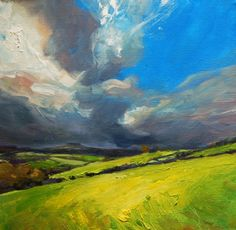 Jenny Aitken - Looking at the Big Sky - Artists & Illustrators - Original art for sale direct from the artist Abstract Landscape Painting, Oil Painting Abstract, Landscape Art, Landscape Paintings, Watercolor Artists, Watercolor Landscape, Painting Art, Watercolor Painting, Art And Illustration