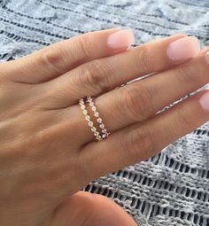 Round cz eternity band. Silver cz eternity ring. Gold by Jadorelli
