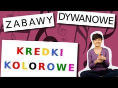"""Zabawy muzyczne dla dzieci z cyklu """"Zabawy dywanowe"""" - Kredki kolorowe - YouTube Education, Full Bed Loft, Kid Games, Onderwijs, Learning"""