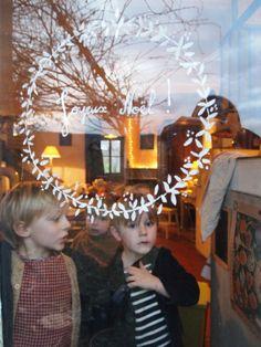 Window decoration!!! vers Noël - tous les jours dimanche