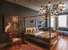 The Black House - Houses for Rent in Robertson, Western Cape, South Africa Victorian Bath, Victorian Homes, London Design Week, Interior Styling, Interior Design, Four Poster Bed, Bedroom Styles, Bedroom Designs