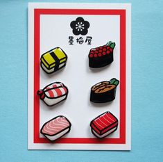 【選べるピアス】寿司【1ペア受注製作】|ピアス|墨梅屋|ハンドメイド通販・販売のCreema