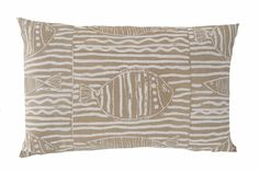 Fish stripe pillow in Sand Printed Cushions, Throw Pillows, Fish, Prints, Cushions, Decorative Pillows, Decor Pillows, Printmaking, Scatter Cushions