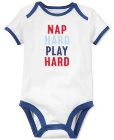 Carter's Nap Hard Play Hard Bodysuit, Baby Boys (0-24 months) - White 3 months