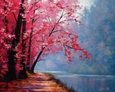 graham gercken | River Bend Painting by Graham Gercken - River Bend Fine Art Prints and ...