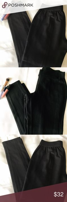 "Talbots Black Legging  Pants Size Small Petite. Legging type pants. No buttons, no pockets and no zippers.13"" waist. 26"" inseam.  Elastic waistband. Talbots Pants"