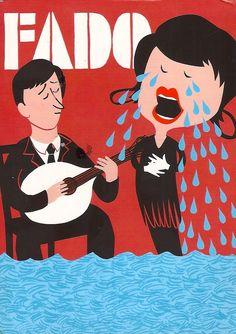 Fado.  Cartazes bem antigos - Lisboa