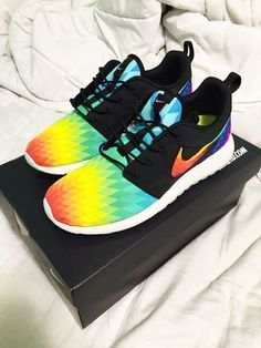 Custom Nike Roshe Run Prismburst by SKLCustomShoes on Etsy