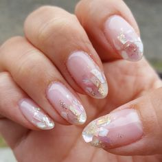 Stunning Designs for Almond Nails You Won't Resist; almond nails long or s. - Stunning Designs for Almond Nails You Won't Resist; almond nails long or short; Almond Nail Art, Almond Acrylic Nails, Fall Acrylic Nails, Short Almond Nails, Glitter Nails, Gold Glitter, Short Nails, Long Nails, Fall Almond Nails