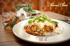 Canelones de pollo con foie y almendras  #food #delicious #decoration #restaurant