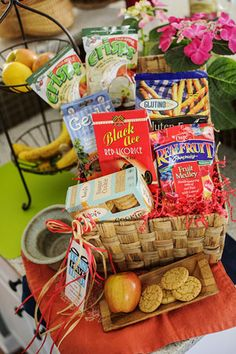 New gluten free basket sunrise sunset i can have that gluten new gluten free gift basket a stash of snacks negle Image collections