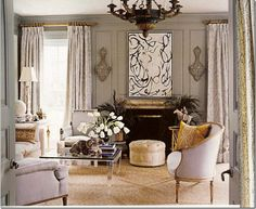 Gerrie Bremermann / New Orleans; trim and walls painted the same color