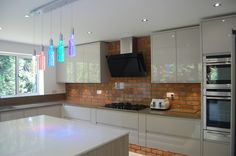 Stunning new kitchen installation by Elements Kitchens! Second Nature Cashmere and Elm. We love the brick work! Chris Kitchen, Real Kitchen, Kitchen Installation, High Gloss, Kitchen Design, Brick, Kitchen Cabinets, Cashmere, Kitchens