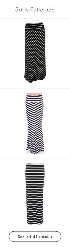 """""""Skirts-Patterned"""" by jensmith1228 ❤ liked on Polyvore featuring skirts, plus size, striped maxi skirt, long skirts, stripe long skirt, plus size striped skirt, long striped skirt, maxi skirt, black and white skirt and black white maxi skirt"""