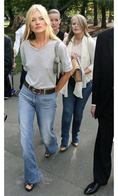 Kate Moss, denim