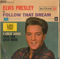 "ELVIS PRESLEY Follow That Dream Ep 1962 Uk Issue 4 trk ep 7"" 45 rpm Vinyl Single rock pop 60s film movie soundtrack King rcx-211 Free s&h"