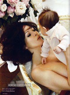 monica bellucci - baby daughter Leonie