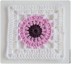Paeonia Square Motif - Free Crochet Diagram - (livemaster)