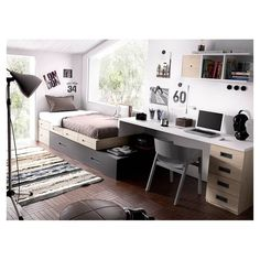 Oferta Dormitorio juvenil con cama compacta modular