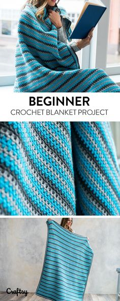 Explore beginner blanket projects, yarns, videos and more!