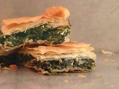 Spanakopita or spinach pie is probably one of the best-known of all traditional Greek dishes and hands down one of the most delicious. Its traditionally made without cheese so, bonus, authentically vegan too! Greek Recipes, Whole Food Recipes, Cooking Recipes, Egyptian Recipes, Dinner Recipes, Vegan Vegetarian, Vegetarian Recipes, Healthy Recipes, Vegan Food