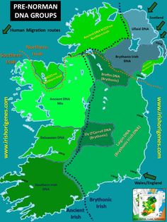 Irish Pre-Norman DNA origins Origenes: Use Family Tree DNA to Discover Your Genetic Origins Genealogy Research, Family Genealogy, Genealogy Humor, Genealogy Chart, Ireland Map, Family History, November 2013, Dna Tree, 3d Printing