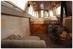 Houseboat Interiors Ideas - The Urban Interior Canal Boat Interior, Interior Exterior, Interior Design, Interior Ideas, Interior Modern, Narrowboat Interiors, Houseboat Living, Houseboat Ideas, Tiny House Movement