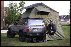 Adam Tolman uploaded this image to 'Grey Cruiser'. See the album on Photobucket. Suv Camping, Camping And Hiking, Camping Hacks, Outdoor Camping, Outdoor Gear, Overland Truck, Expedition Truck, Land Cruiser Fj80, Toyota Land Cruiser