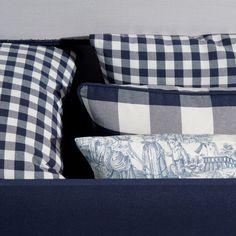 Fashionable, navy pillows