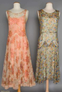 Two Printed Silk Summer Dresses, 1930s, Augusta Auctions, November 11, 2015 NYC