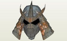 Shredder Helmet In 1 / 1 Scale - by PepMaster - via Pepakura Gallery - - A very well done model, that you can make your own texture, using any image you want. This cool 1/1 scale mask was designed by PepMaster.